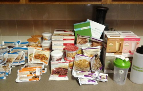 Pile of Nutrisystem Diet Food | DIETSiTRIED