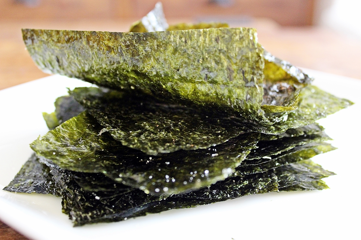Image result for dried seaweed snack